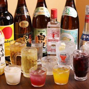 もつ焼専門店 焼肉居酒屋 北九州ホルモンセンターの種類豊富な飲み放題